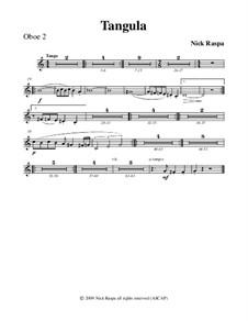 Drei Tänze für Halloween: No.2 Tangula - oboe 2 part by Nick Raspa