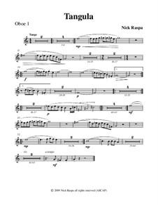 Drei Tänze für Halloween: No.2 Tangula - oboe 1 part by Nick Raspa