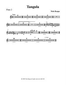 Drei Tänze für Halloween: No.2 Tangula - flute 2 part by Nick Raspa