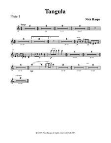 Drei Tänze für Halloween: No.2 Tangula - flute 1 part by Nick Raspa