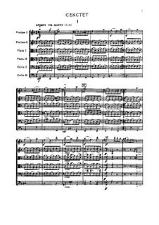 Streichsextett 'Souvenir de Florence', TH 118 Op.70: Vollpartitur by Pjotr Tschaikowski