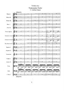 Nr.5 Arabischer Tanz: Vollpartitur by Pjotr Tschaikowski