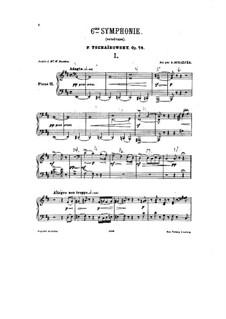 Vollständiger Teile: Für zwei Klaviere – Klavierstimme II by Pjotr Tschaikowski