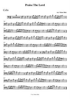 Preist den Herrn: Für Cello by folklore