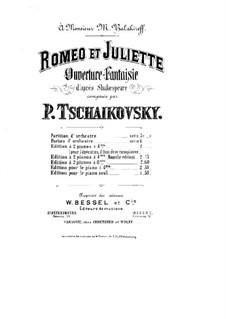 Vollständiger Ouvertüre: Für zwei Klaviere, vierhändig – Klavierstimme I by Pjotr Tschaikowski