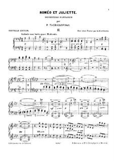 Vollständiger Ouvertüre: Für zwei Klaviere, vierhändig – Klavier II by Pjotr Tschaikowski