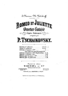 Vollständiger Ouvertüre: Für zwei Klaviere, achthändig – Stimmen für Klavier I by Pjotr Tschaikowski