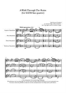 A Walk Through The Ruins: For SATB sax quartet by Paul Cranford