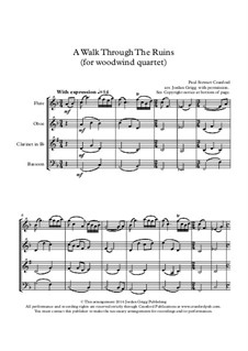 A Walk Through The Ruins: For woodwind quartet by Paul Cranford