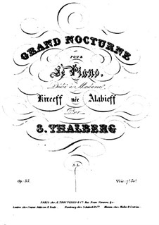 Zwei Nokturnen, Op.35: Nokturne Nr.1 by Sigismond Thalberg