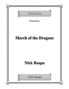 March of the Dragons: Für Klavier by Nick Raspa