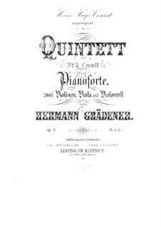 Klavierquintett Nr.2 in c-Moll, Op.19: Vollpartitur by Hermann Grädener