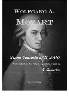 Konzert für Klavier und Orchester Nr.21 in C-Dur, K.467: Arrangement for string quartet by Wolfgang Amadeus Mozart