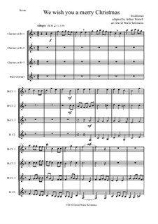We Wish You a Merry Christmas: For clarinet quartet (3 B flats, bass) by folklore