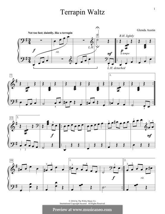 Terrapin Waltz: Für Klavier by Glenda Austin