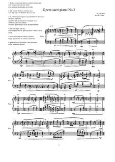 Opera sacri piano No.3, MVWV 1061: Opera sacri piano No.3 by Maurice Verheul