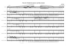 Piece for 5 double bass players and bass clarinet, MVWV 1050: Piece for 5 double bass players and bass clarinet by Maurice Verheul