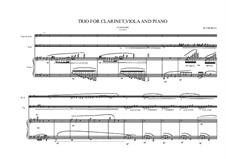 Grande trio No.1: For clarinet Bb, viola and piano, MVWV 347b by Maurice Verheul