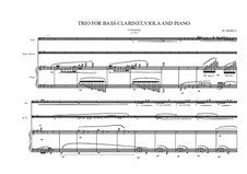 Grande trio No.1: For bass clarinet, viola and piano, MVWV 347c by Maurice Verheul
