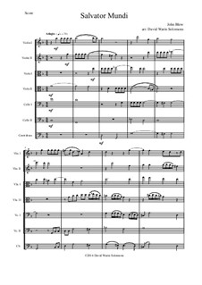 Salvator Mundi: Für Streichorchester by John Blow