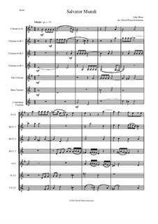 Salvator Mundi: For clarinet choir by John Blow