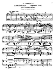 Tagebüch eines Wanderers, S.156: Heft I, Nr.4 Das Obermann-Tal by Franz Liszt