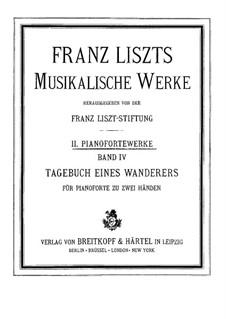 Tagebüch eines Wanderers, S.156: Vollsammlung by Franz Liszt