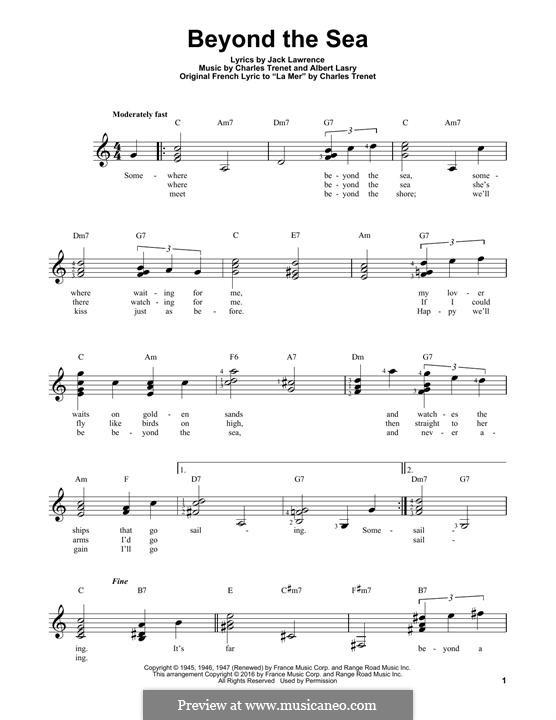 Beyond the Sea: Für Gitarre mit Tabulatur by Albert Lasry, Charles Trenet