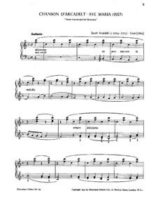 Ave Maria: Bearbeitung für Klavier, S.183 No.2 by Jakob Arcadelt