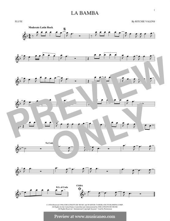 La Bamba: Für Flöte by folklore, Ritchie Valens