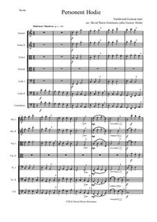 Personent hodie: Für Streichorchester by folklore