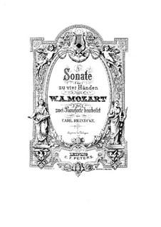 Sonate für Klavier, vierhändig in F-Dur, K.497: Bearbeitung für zwei Klaviere, vierhändig by Wolfgang Amadeus Mozart