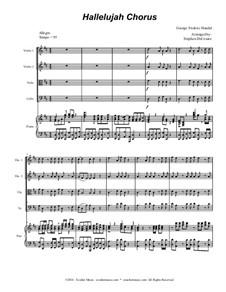 Nr.44 Halleluja: For string quartet (with accompaniment track) by Georg Friedrich Händel