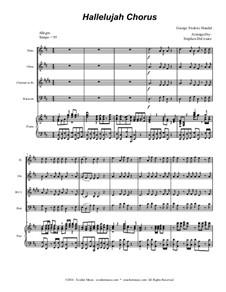 Nr.44 Halleluja: For woodwind quartet (with accompaniment track) by Georg Friedrich Händel