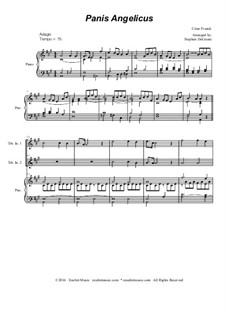 Panis angelicus: For two treble instruments and piano by César Franck