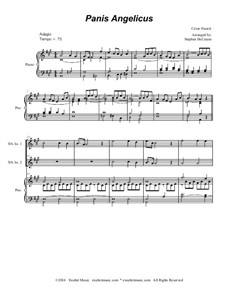 Panis angelicus: For two treble instruments and piano (with accompaniment track) by César Franck