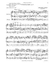 L'organiste pratique (The Practical Organist): Heft III. Postludium in F-Dur, Op.46 No.2 by Alexandre Guilmant