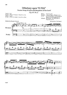 L'organiste pratique (The Practical Organist): Book V. Offertory upon 'O Filii', Op.49 No.2 by Alexandre Guilmant