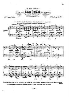 Il mio tesoro: Bearbeitung für Klavier by Wolfgang Amadeus Mozart