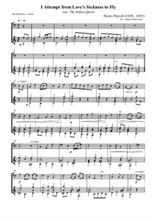 The Indian Queen, Z.630: I Attempt from Love's Sickness to Fly. Version for bass recorder and guitar by Henry Purcell