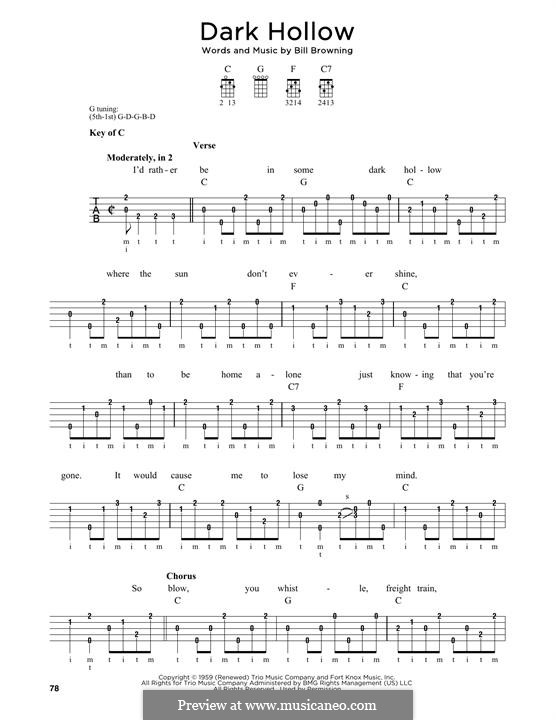 Dark Hollow (The Grateful Dead): For banjo by Bill Browning