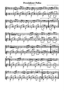 Presslahner Polka: Für Klarinette und Gitarre by folklore