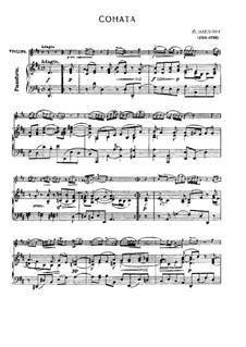 Sonate für Violine und Basso Continuo in D-Dur: Bearbeitung für Violine und Klavier by Pietro Nardini