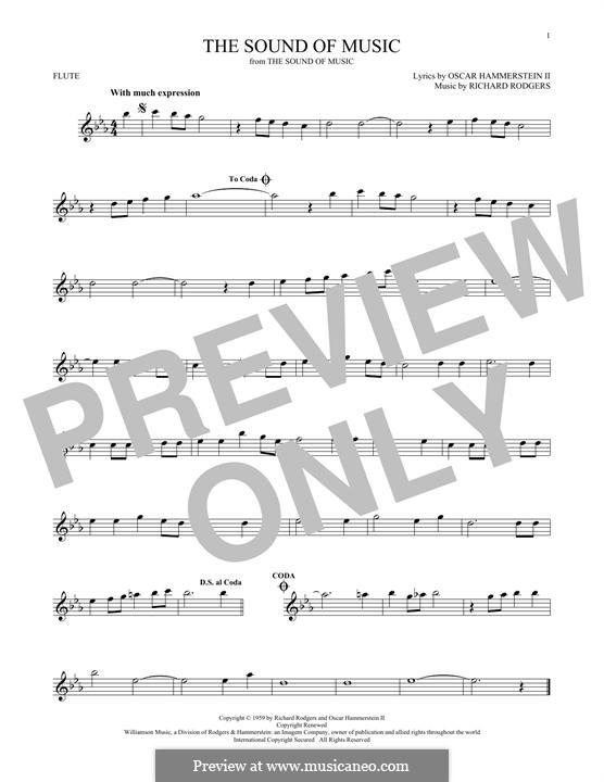 The Sound of Music: Für Flöte by Richard Rodgers