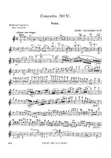 Violinkonzert Nr.5, Op.37: Solostimme by Henri Vieuxtemps