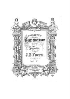 Drei Konzertduos, Op.29: Für zwei Violinen – Stimmen by Giovanni Battista Viotti