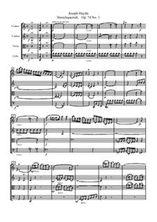 Streichquartett Nr.57 in C-Dur, Hob.III/72 Op.74 No.1: Partitur by Joseph Haydn