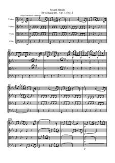 Streichquartett Nr.30 in Es-Dur 'Der Scherz', Hob.III/38 Op.33 No.2: Partitur by Joseph Haydn