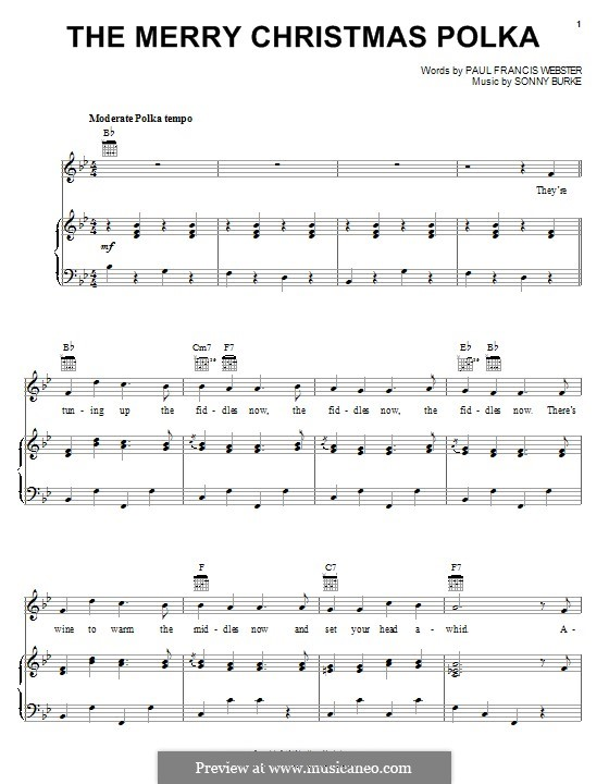 The Merry Christmas Polka: Für Stimme und Klavier (oder Gitarre) by Sonny Burke