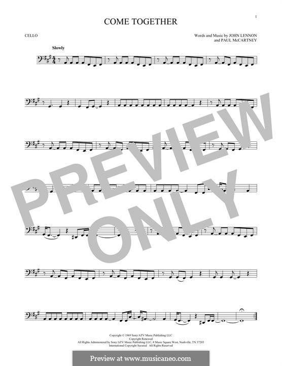 Come Together (The Beatles): Für Cello by John Lennon, Paul McCartney